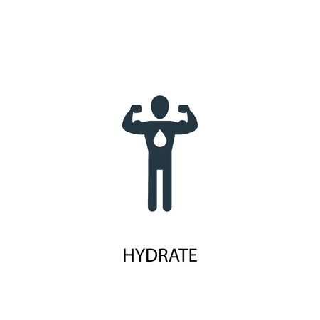 hydrate icon. Simple element illustration. hydrate concept symbol design. Can be used for web 일러스트