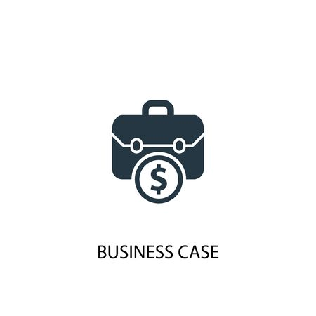 business case icon. Simple element illustration. business case concept symbol design. Can be used for web