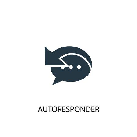 Autoresponder icon. Simple element illustration. Autoresponder concept symbol design. Can be used for web 向量圖像