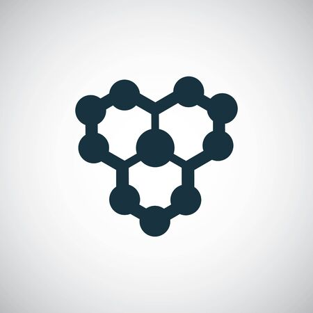 molecule icon for web and UI on white background