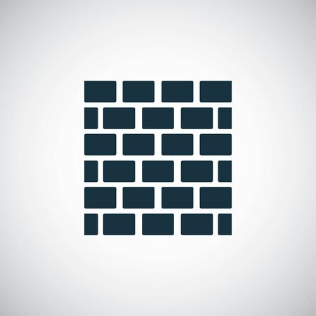 brick wall icon for web and UI on white background Foto de archivo - 134038530