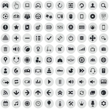 game 100 icons universal set for web and UI. Stock fotó - 134039157