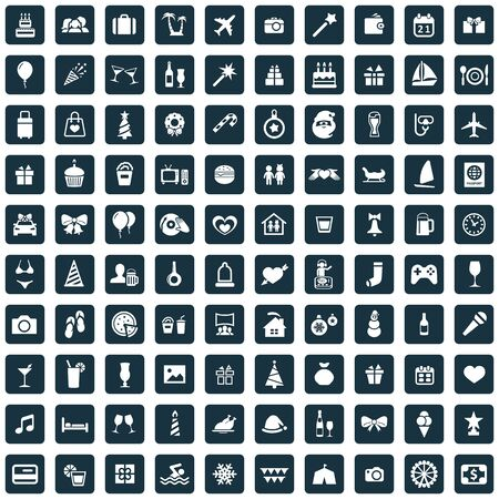 holiday 100 icons universal set for web and UI Banque d'images - 134039212