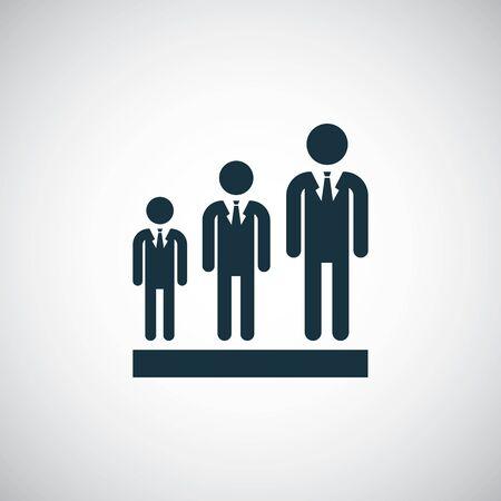 businessman group icon for web and UI on white background Ilustração