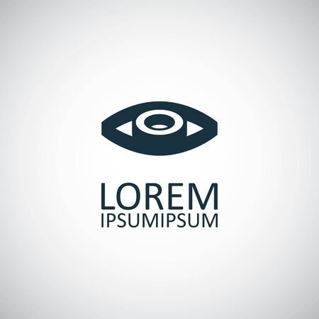 eye icon for web and UI on white background