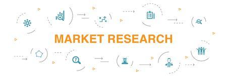 Market research Infographic 10 steps circle design. strategy, investigation, survey, customer icons 版權商用圖片 - 134039385