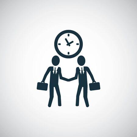 businessman handshake icon for web and UI on white background Ilustração