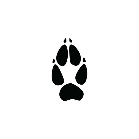 black fox footprint on white background template