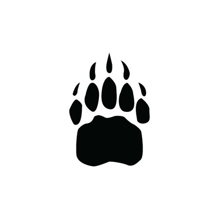 bear footprint isolated on white background template  イラスト・ベクター素材