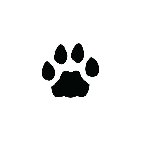 black cat footprint on white background template  イラスト・ベクター素材