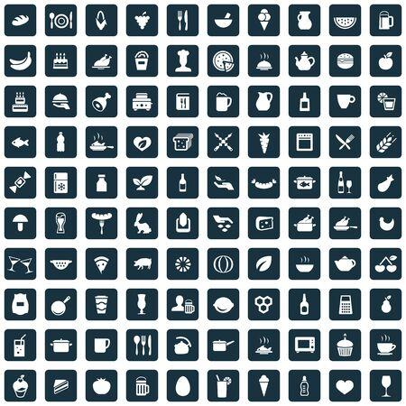 food 100 icons universal set for web and UI