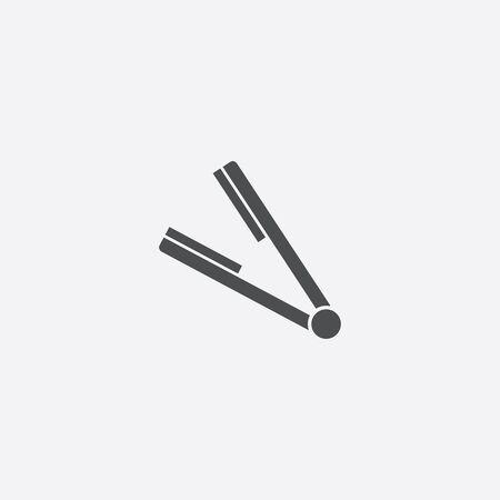 straightener icon, isolated, white background