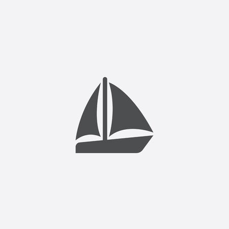 sail boat icon, isolated, white background  イラスト・ベクター素材