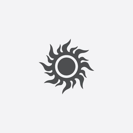 sun icon, isolated, white background Ilustración de vector