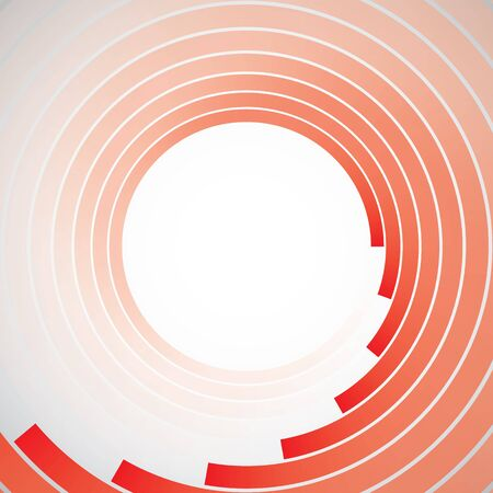 abstract circle lines symbol, red on white background. 版權商用圖片 - 140256549