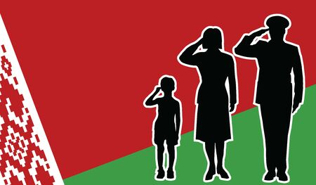 belarus soldier family salute patriot background.