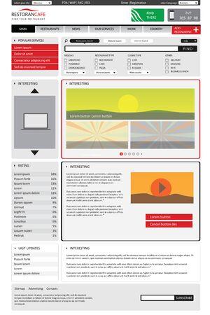 editable website catalog template on white backgrounds.