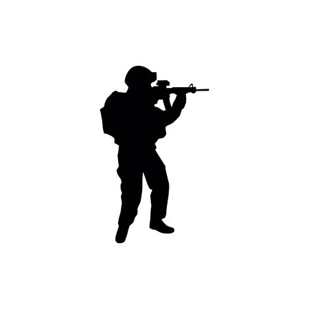 Soldiers silhouettes. Illustration
