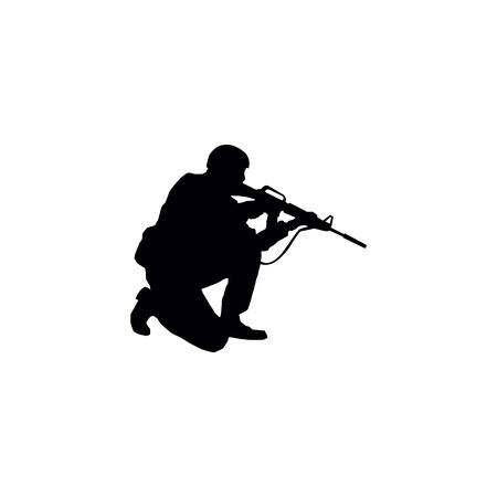 Soldiers silhouettes Иллюстрация