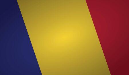 romania flag angle shape. 向量圖像