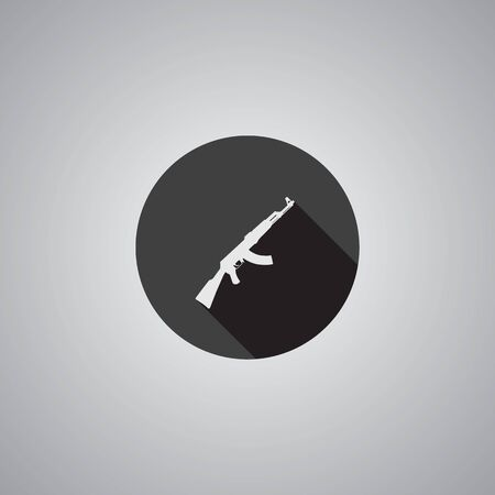 Rifle symbol flat