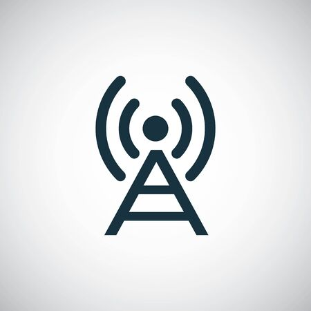 antenna icon on white background.