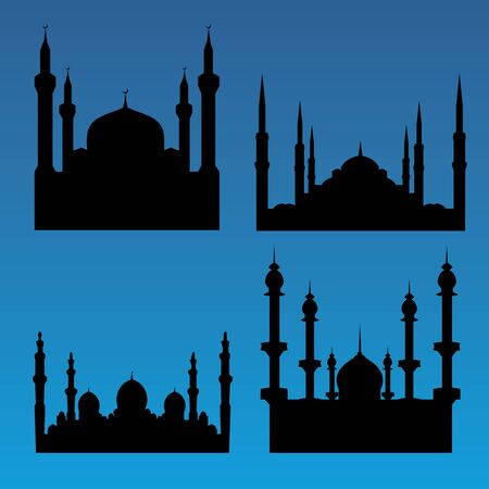 Mosque silhouettes