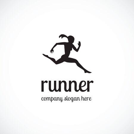 runner illustration the white background.  イラスト・ベクター素材