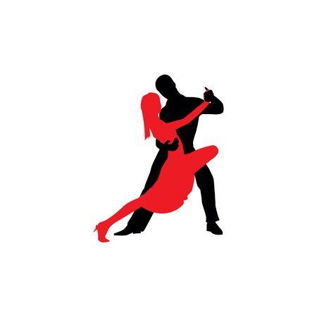 Latin dancers silhouettes on the white background. Archivio Fotografico - 140256845