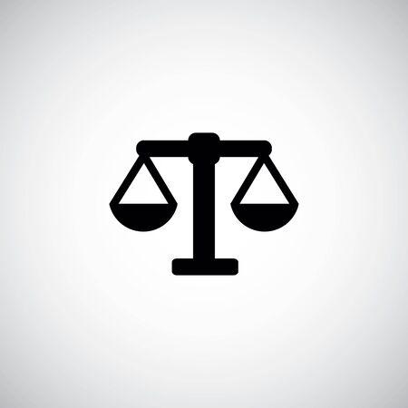scales symbol logo Ilustração