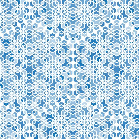 abstract blue mosaic background, cold, winter.