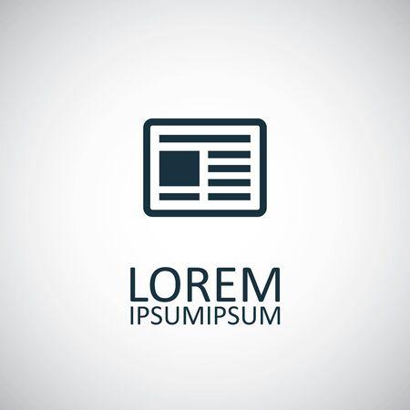 news icon on white background.