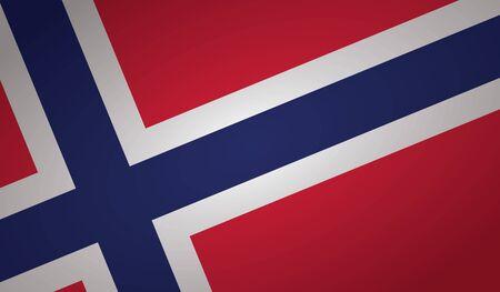 norway flag angle shape. Ilustração