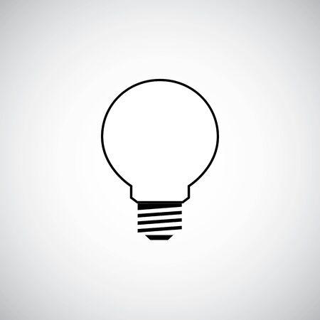 idea symbol on the white background. Stock Illustratie