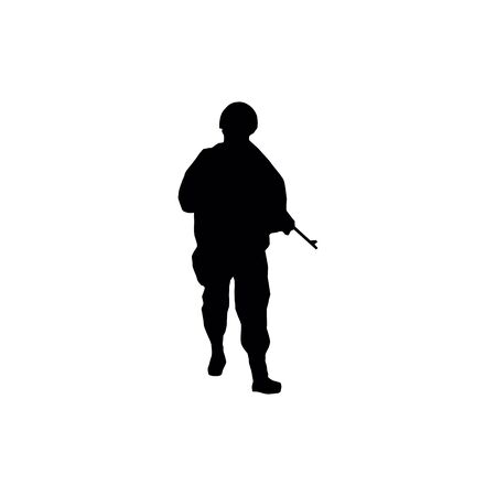 Soldiers silhouettes Illustration
