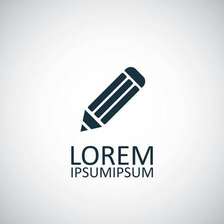 pencil icon on white background.