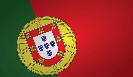 portugal flag angle shape.