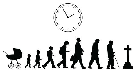 Time passing, vector concept