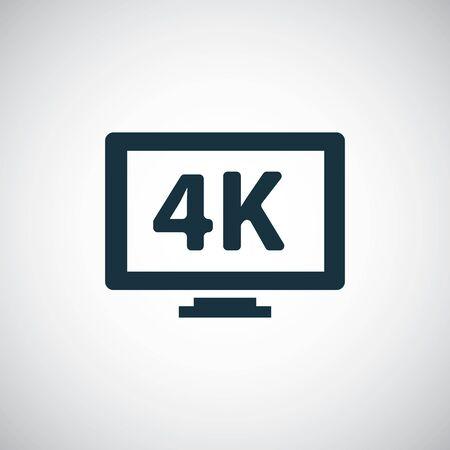 4k tv icons Ilustração