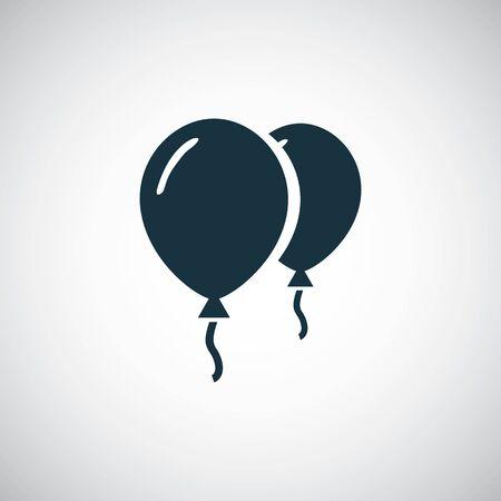 balloons icon on white background. Ilustracja