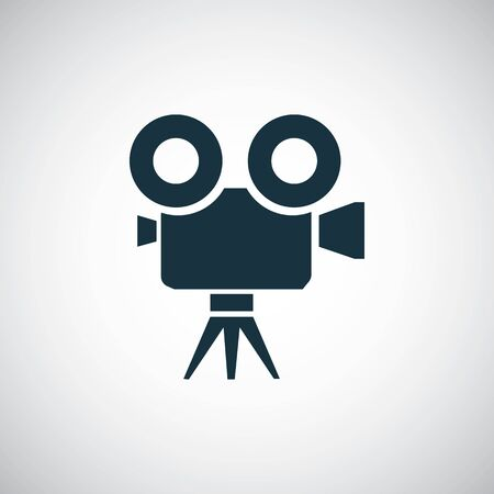 video camera icon on white background.