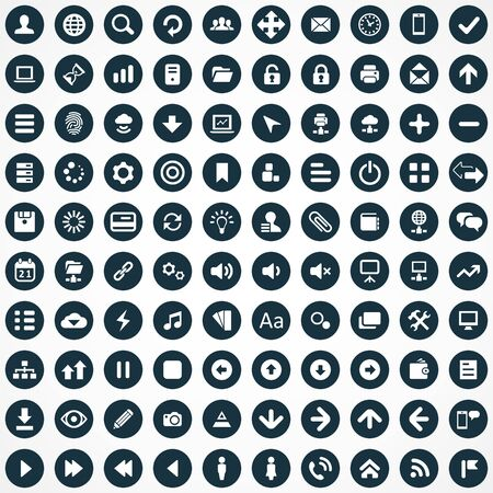 100 app icons Vectores