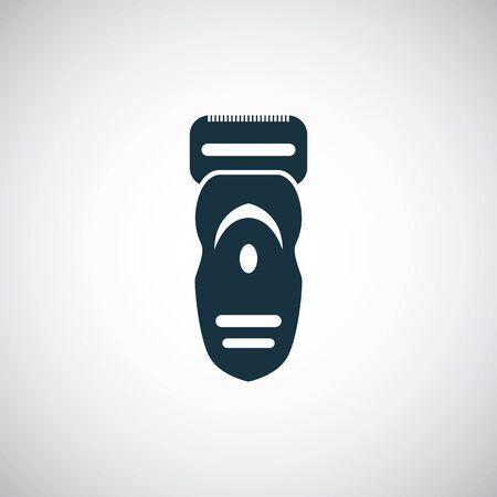 electric shaver icon on white background. Illusztráció