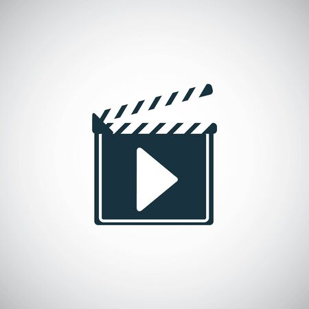 clapper board icon on white background. 向量圖像