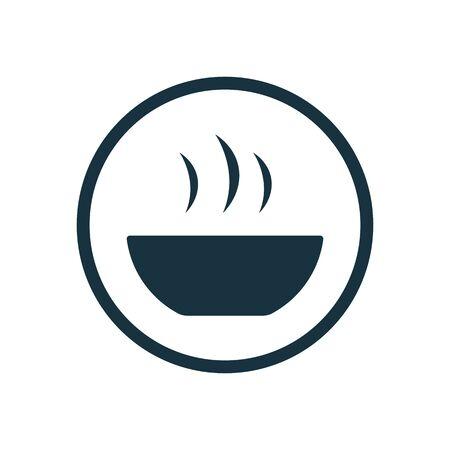 soup icon on white background.
