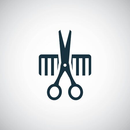 barbershop icon on white background.