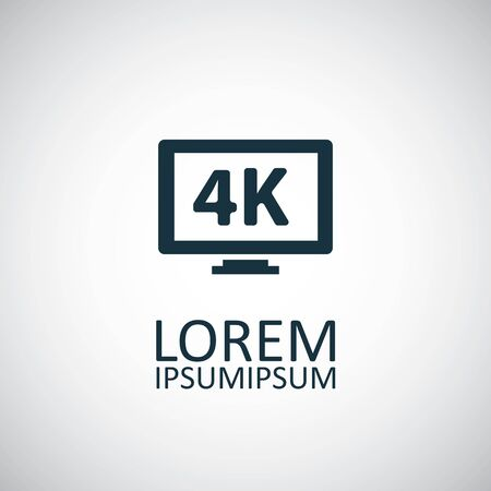 4k tv icons on white background. Иллюстрация