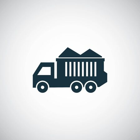 tipper icon on white background. Stock Illustratie