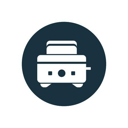 toaster icon on white background. Ilustração