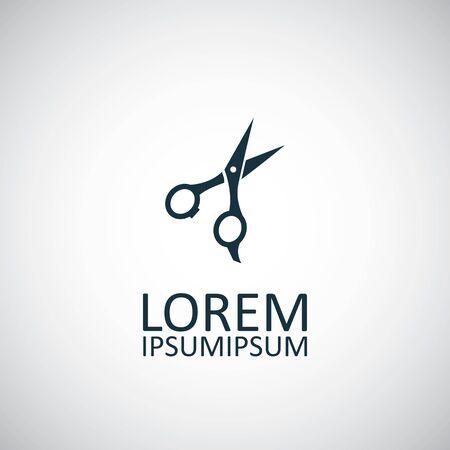 scissors icon on white background. Illusztráció